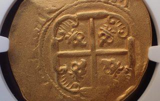 Mex1711 E8 cross goldcob coin