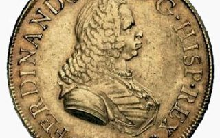 Lima 1751 goldcob coin