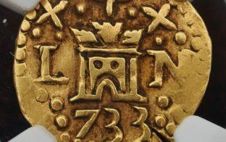 Lima1733E1cas goldcob coin