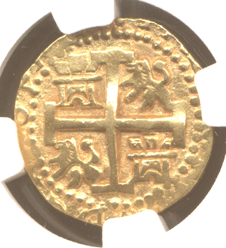 Lima1736E2cr goldcob coin