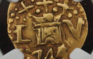 Lima1744E1cas goldcob coin